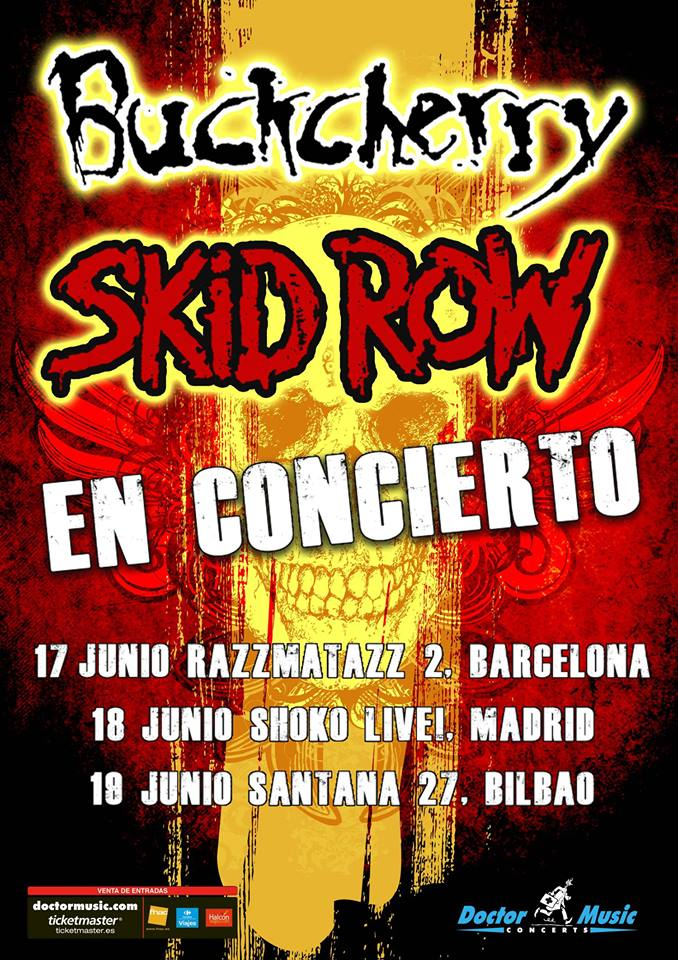 BUCKCHERRY y SKID ROW en España